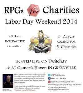 RPGs4Charities Poster